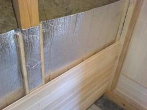 отделка стен в бане