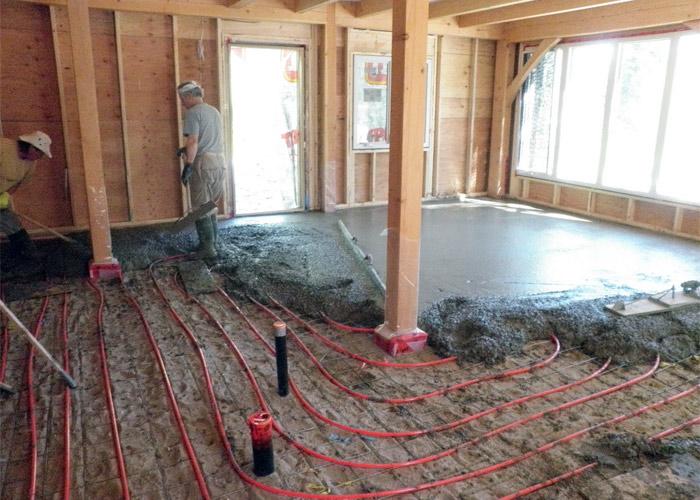 Тёплый пол в доме видео